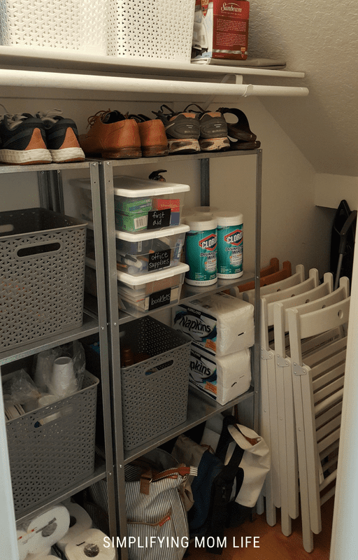 Organize a Closet Under the Stairs on a Budget - SImplifying Mom Life