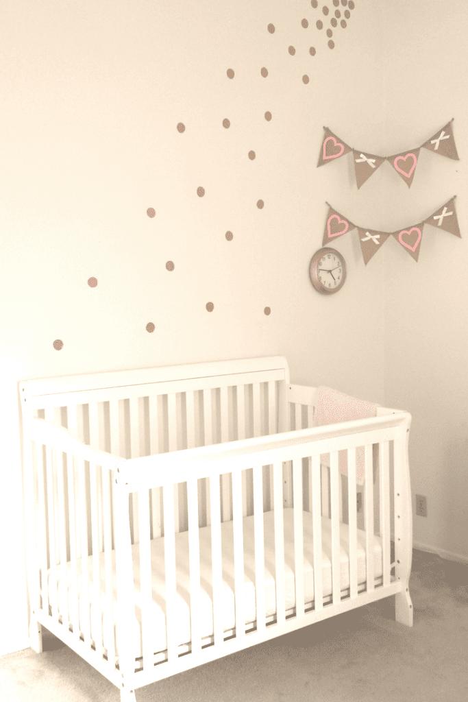 Diy Gold Polka Dot Wall For Under 5 Simplifying Mom Life