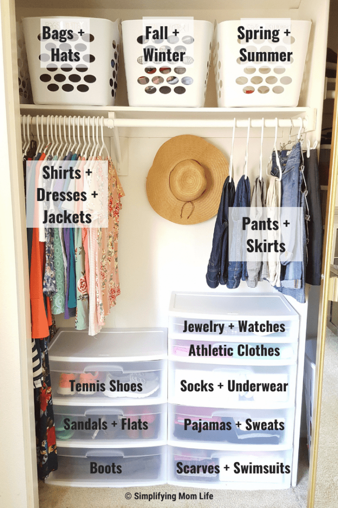 Organize a Small Closet on a Budget in 5 Simple Steps - Simplifying Mom Life