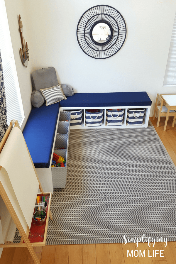Awesome Ikea Kallax Hack Storage Benches For A Playroom Gmtry Best Dining Table And Chair Ideas Images Gmtryco