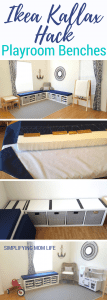 Ikea Kallax Hack - Playroom Storage Benches _ DIY window bench, no sew cushions, no drilling, without plywood _ Nautical Playroom (1)